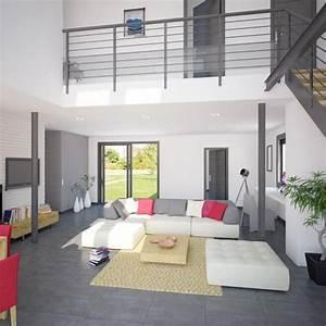modele et plan de maison volume etage avec ou sans garage With idee deco pour maison 7 photo interieur de maison contemporaine