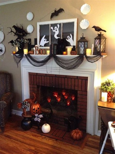 halloween decorated mantels scrapality