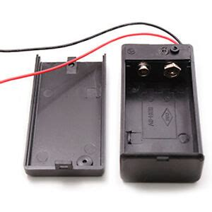 Pcs Volt Battery Holder Box Case With Wire Lead