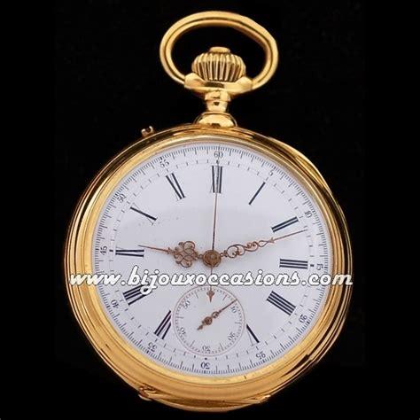 montre ancienne 224 gousset chronographe en or