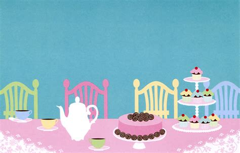 sweets  tea party invitations