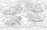Coloring Colouring Joanna Webster Airships Adult Amazing Creative sketch template