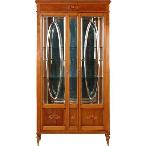 glass display cabinet edwardian antique glass display cabinet in taste