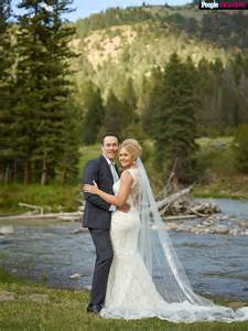 wedding ring ceremony chris klein wedding all the details on his montana nuptials