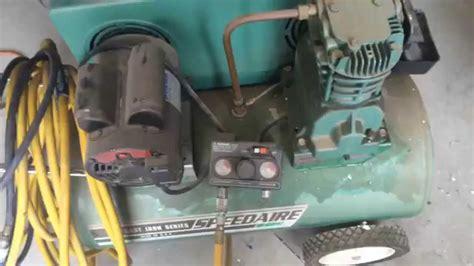 speedaire  air compressor youtube
