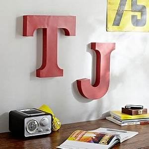 metal wall letters pbteen With red wall letters