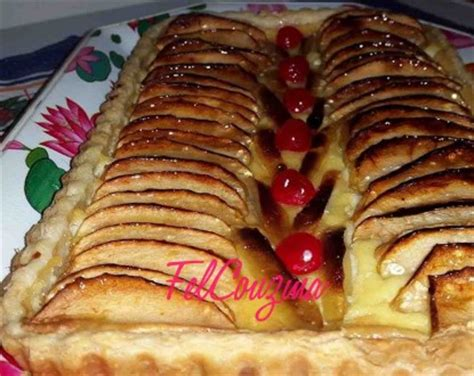 tarte pate feuillete creme patissiere tarte aux pommes feuillet 233 e felcouzina