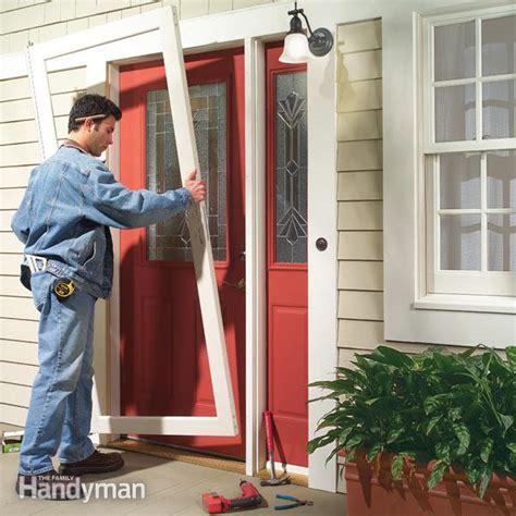storm door replacement  family handyman