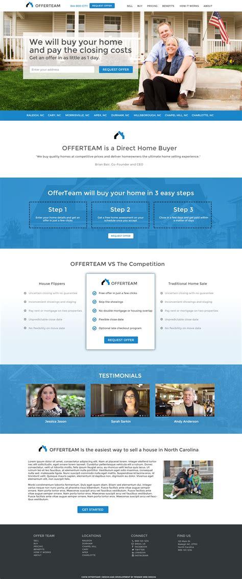real estate websites durham web design penner web