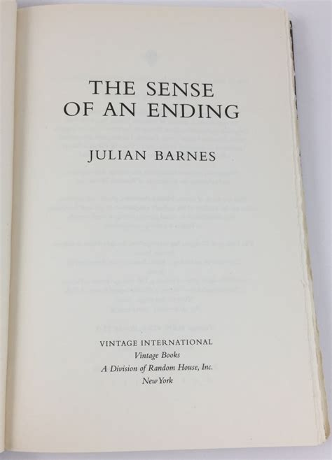 Julian Barnes The Sense Of An Ending Explanation by The Sense Of An Ending Vintage International 2012