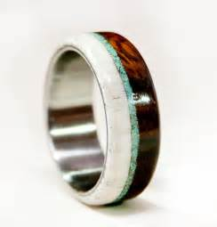 antler wedding rings mens wedding band wood and antler with titanium by stagheaddesigns