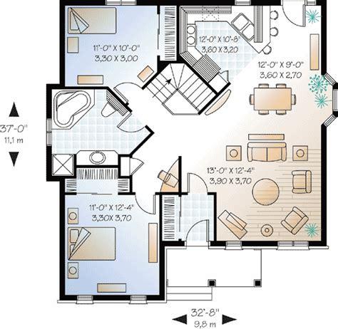brick home floor plans economical 2 bedroom brick house plan 21213dr