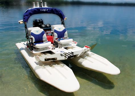 Small Two Person Motor Boat by Research 2010 Craig Catamarans E2 Elite On Iboats
