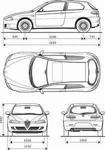 Alfa Romeo 147 2007 Blueprint