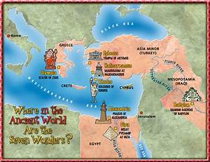 The Seven Wonders of the Ancient World map Dogfoose com