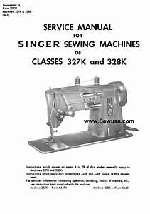 Singer 327k 328k Service Manual