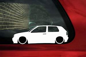 2x Low Vw Golf Mk3 Gti 16v Vr6 Tdi Outline Silhouette