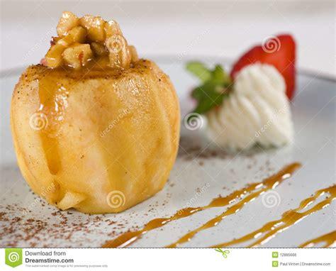 baked apple dessert royalty free stock image image 12885666