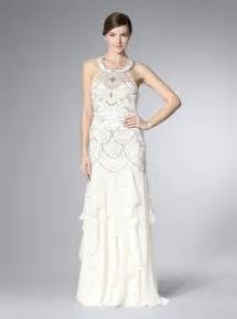 sue wong sue wong ivory halter gown with ruffled skirt With sue wong wedding dresses
