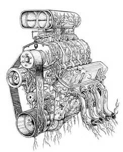 Blower Engine Tattoo Drawing
