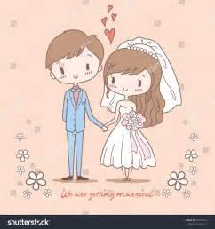Cute Bride Groom On Pastel Color Stock Vector 275902994 ...