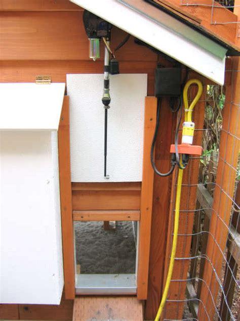 automatic chicken coop door automatic pop opener backyard chickens community