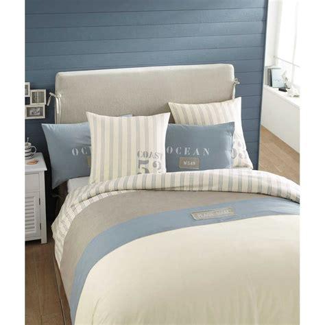 parure de lit 220 x 240 cm en coton blanche oc 201 an maisons du monde