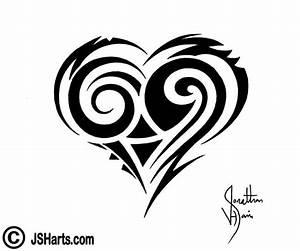 Tribal Heart Tattoo Design by JSHarts on DeviantArt