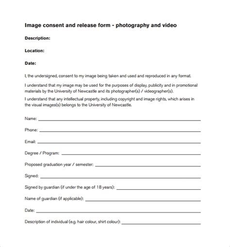 image release form 13 download free documents in pdf