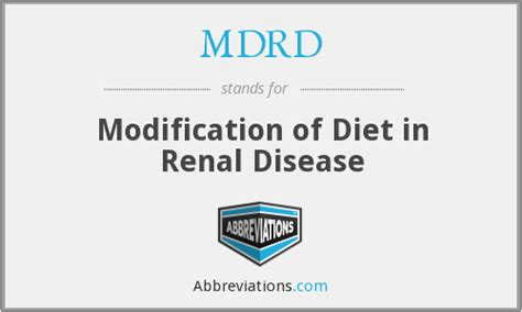 Modification Of Diet In Renal Disease by Mdrd Modification Of Diet In Renal Disease