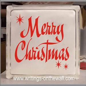 merry christmas letters glass block vinyl writings With merry christmas vinyl lettering