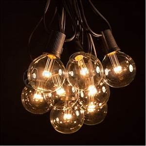 100 foot led warm white globe string lights set of 100 With outdoor patio lights with white cord