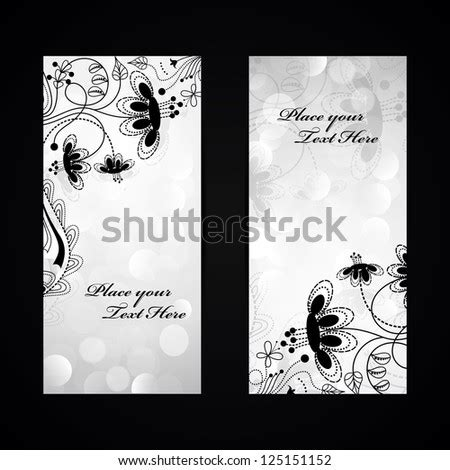 die cut wedding invitation card template stock vector