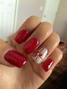 1000+ ideas about Christmas Acrylic Nails on Pinterest | Acrylic nails Christmas nail art and ...