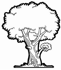 Summer Tree Clipart Black And White - ClipartXtras