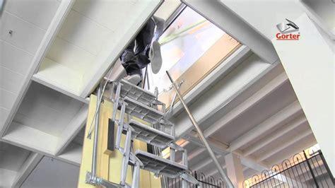 trappe de toit gorter avec escalier escamotable 233 lectrique
