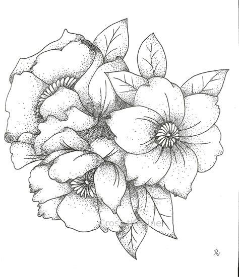 Dessin Bouquet De Fleurs  Photo De Fleur  Une Pensee