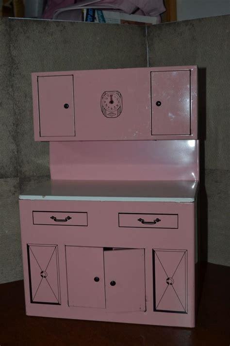 Vintage Wolverine Child Doll Toy Pink Kitchen Hutch