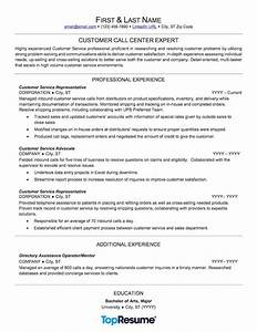 Call center resume sample professional resume examples for Call center resume
