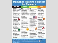 Marketing Planning Calendar for Cleaners Hitman