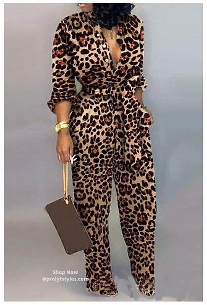 Jumpsuit Outfits Classy Leopard
