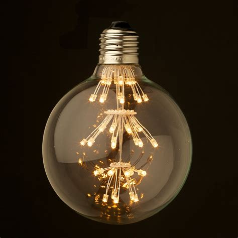 dimmable 3 watt vintage led e27 clear 95mm bulb