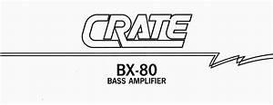 Bx-80 Manuals
