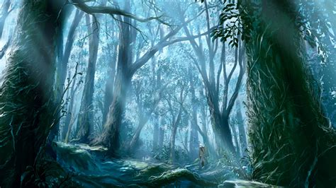 Forest Anime Wallpaper - anime forest wallpaper 1920x1080 wallpoper 175083