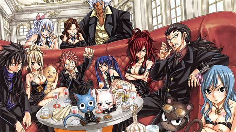 fairy tail family hd wallpaper background image