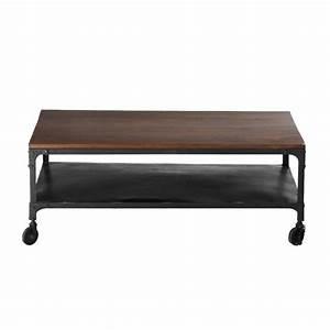 Table Maison Du Monde Bois : table basse roulettes en bois de sheesham massif et ~ Premium-room.com Idées de Décoration