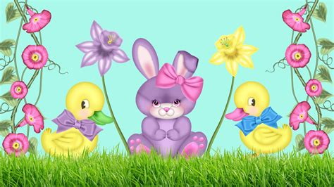 Animated Easter Bunny Wallpaper - easter bunny wallpapers and backgrounds wallpapers
