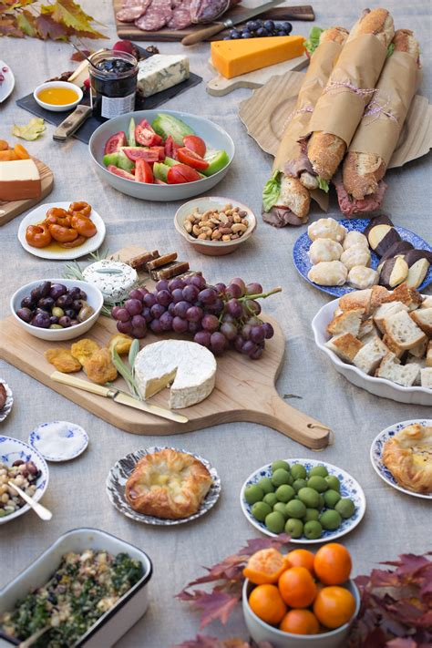 great picnic food fall picnic sunday supper table and dish tableanddish