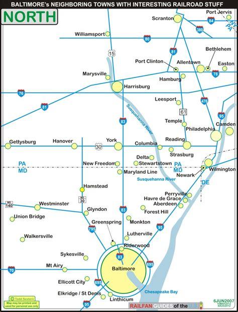 baltimore light rail map baltimore railfan guide towns around baltimore