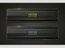 Set of Shiny Black Banners vector 05 Free download